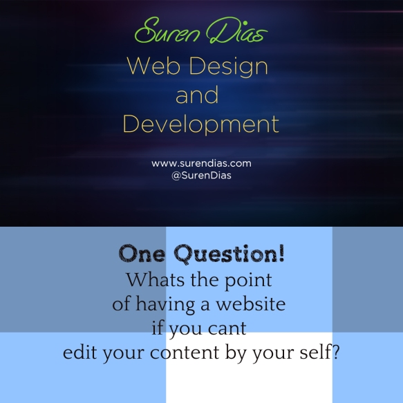 Question of the day - Suren Dias Web Design and Development